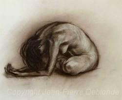 Azilys – sépia sur papier - 40x30 cm - sepia on paper - 16x12 inches
