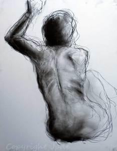Milena - croquis de nu au fusain