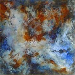 Poussière d'étoile – Acrylique sur toile – 80×80 cm
