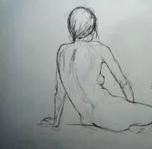 Carmen - croquis au crayon sur papier canson